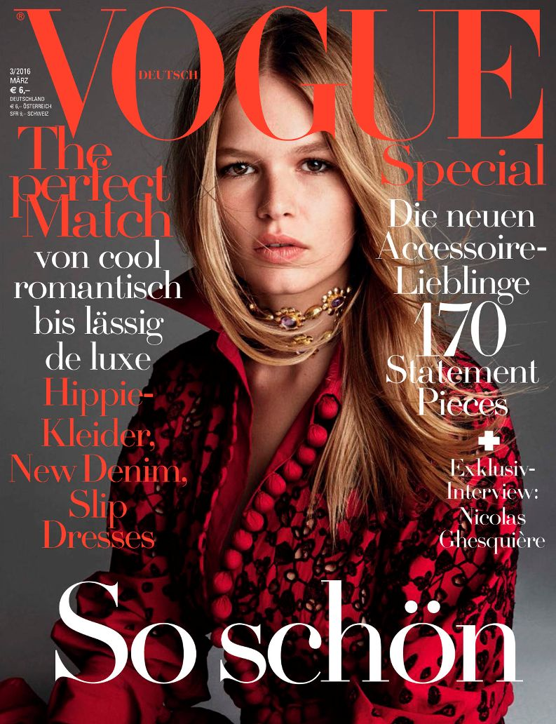 Anna Ewers Graces Vogue Germany\'s March 2016 Issue