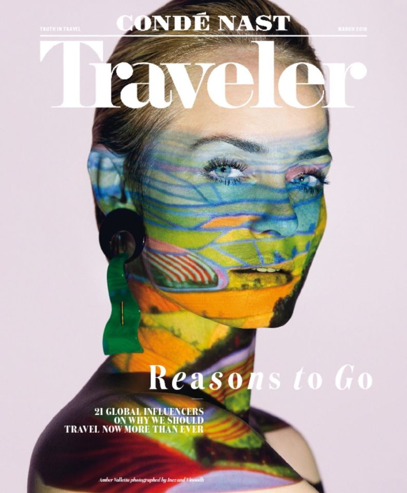 Amber Valletta covers Conde Nast Traveler March 2016