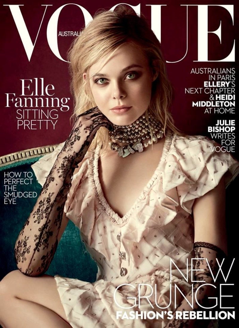 Elle Fanning covers Vogue Australia March 2016