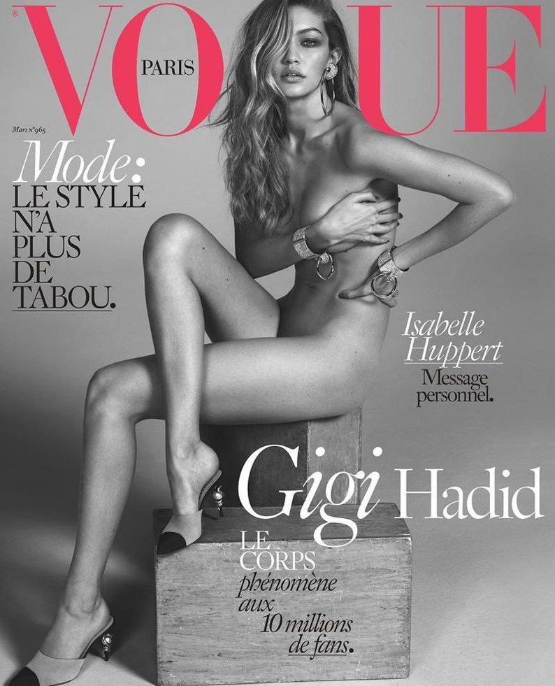 Gigi Hadid sizzles on the cover of Vogue Paris