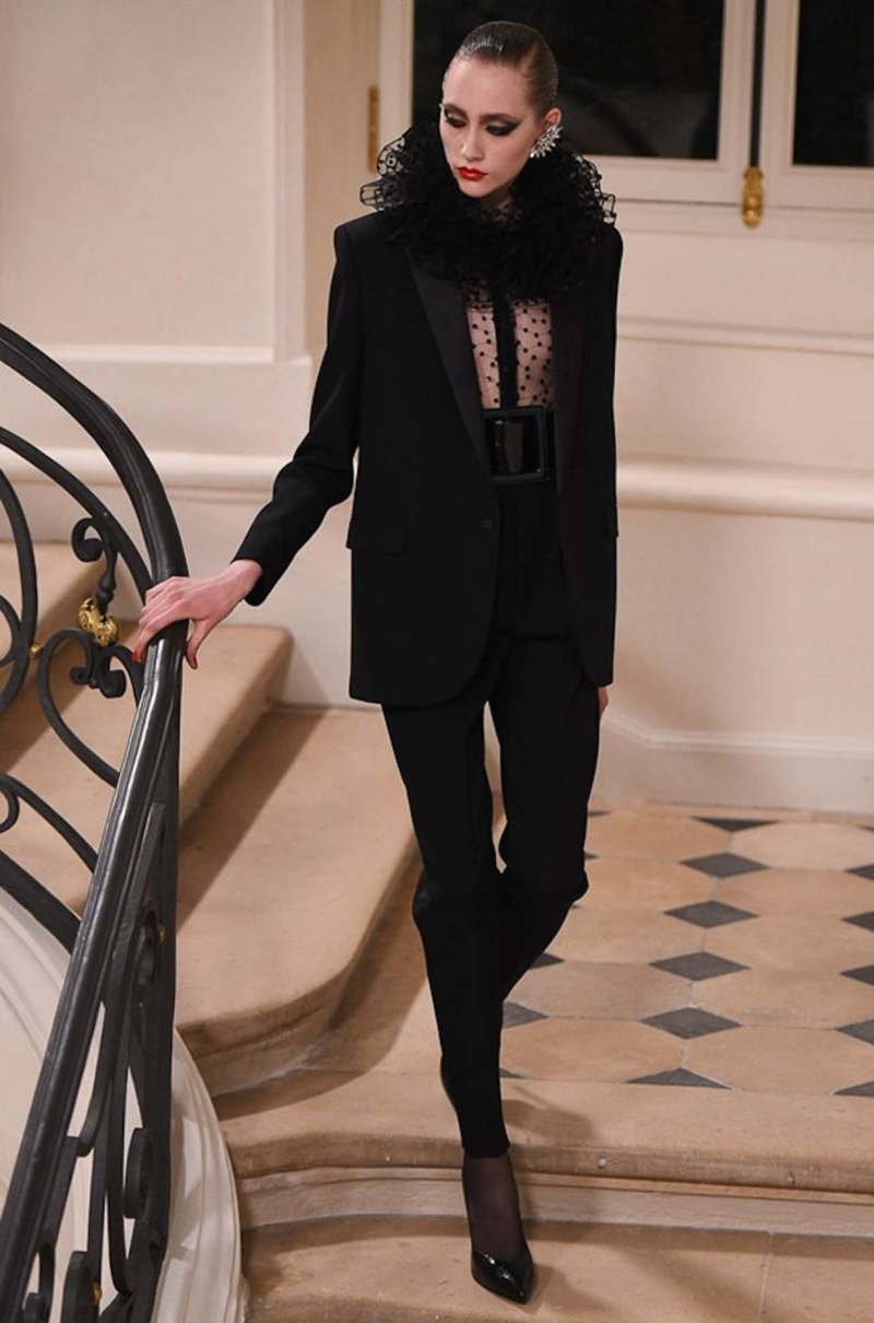 Hedi Slimane presents Haute Couture collection at Paris fashion week