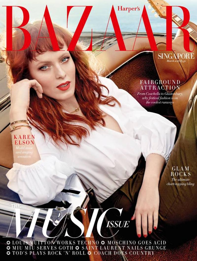 Karen Elson takes a trip to downtown LA in Harpers bazaar\'s march issue