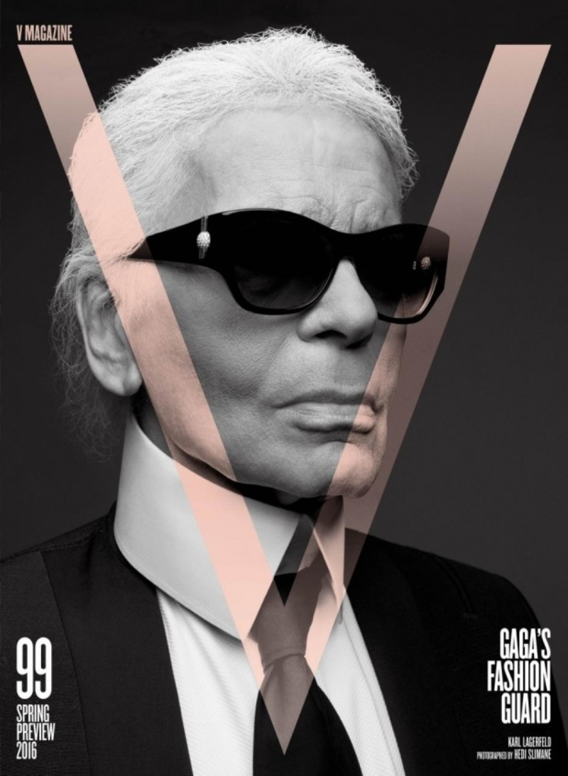 Karl Lagerfeld Photographs Chosen Model Superlatives For The Spring 2016 Issue Of V Magazine