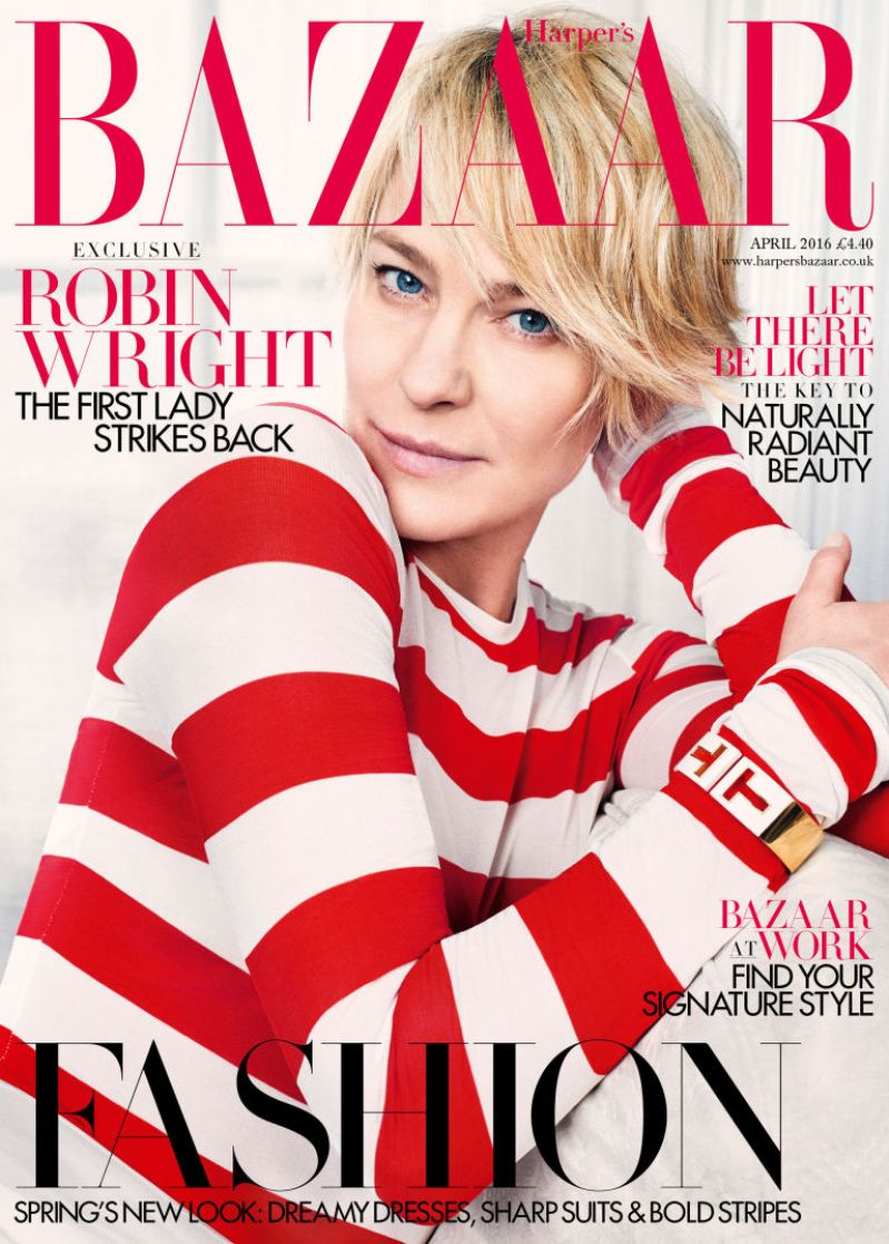 Robin Wright Is Harpers Bazaar Uk April Issue Cover Star