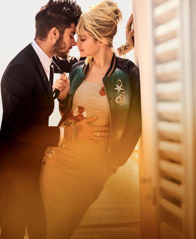 Gigi Hadid and Zayn Malik debut in vogue editorial together