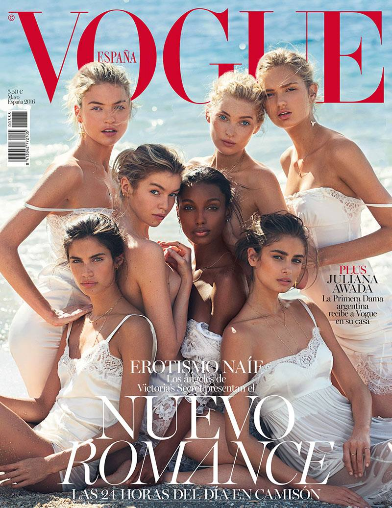 Seven Victoria\'s Secret Models cover Spanish Vogue
