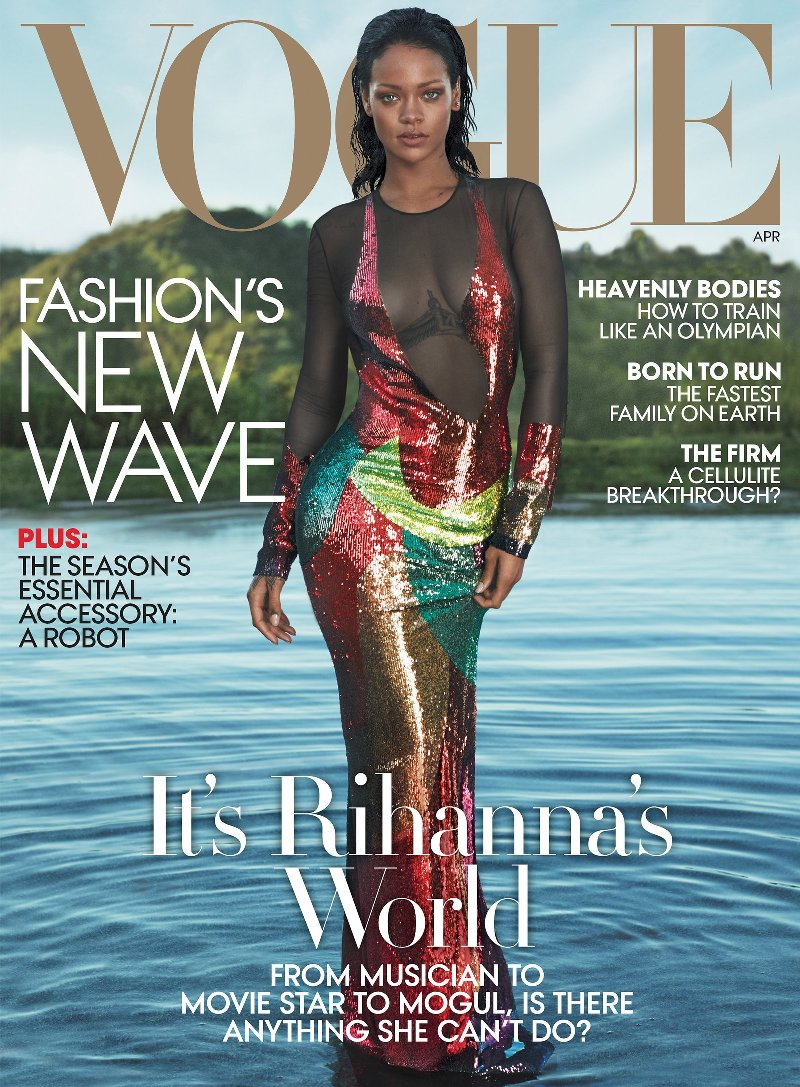 Rihanna sizzles on the April cover of US Vogue