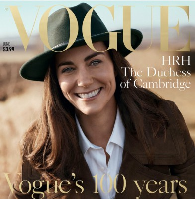 Kate Middleton poses for british vogue