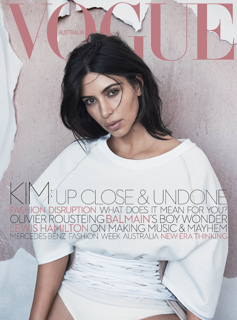 Kim Kardashian covers Vogue Australia\'s June 2016 issue