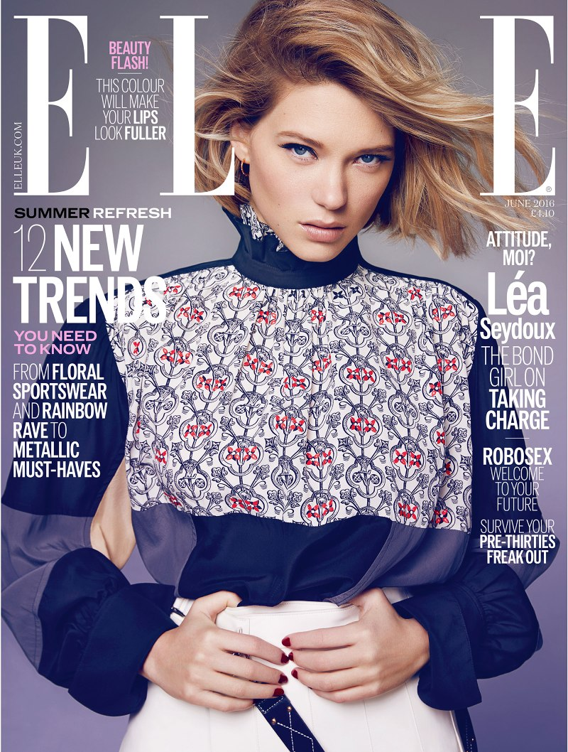 Lea Seydoux is ELLE UK June Cover Star
