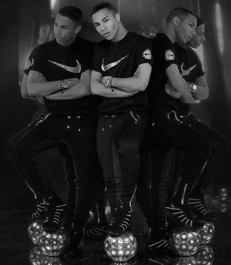 Olivier Rousteing collaborates with NikeLab