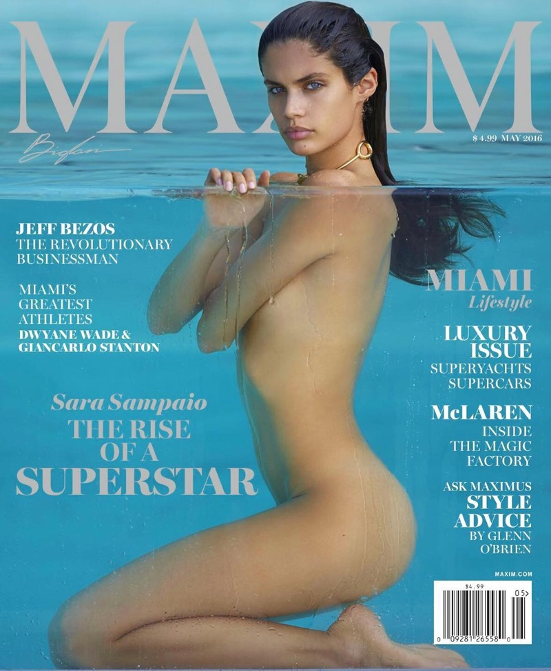 Sara Sampaio sizzles on the cover of Maxim\'s May issue