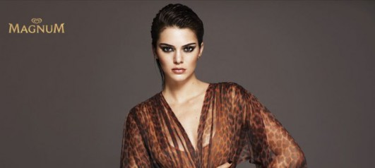 kendall jenner fronts campaign for magnum ice cream news the fmd. Black Bedroom Furniture Sets. Home Design Ideas