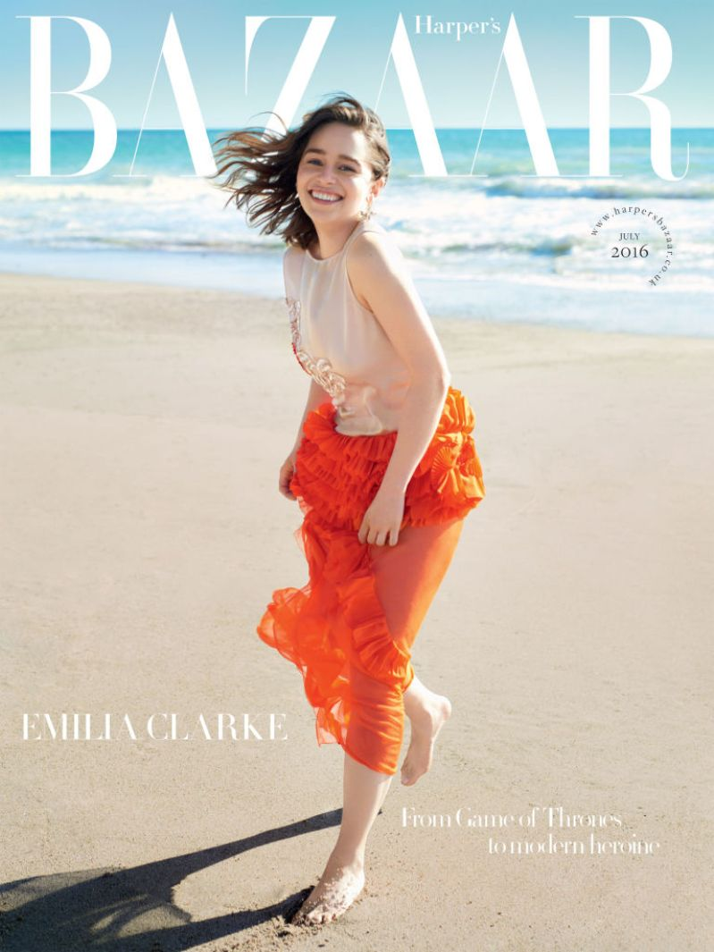 Emilia Clarke Is Cover Star of Harper\'s Bazaar UK\'s July Issue