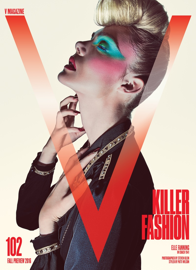 Elle Fanning sizzles on the cover of V Magazine