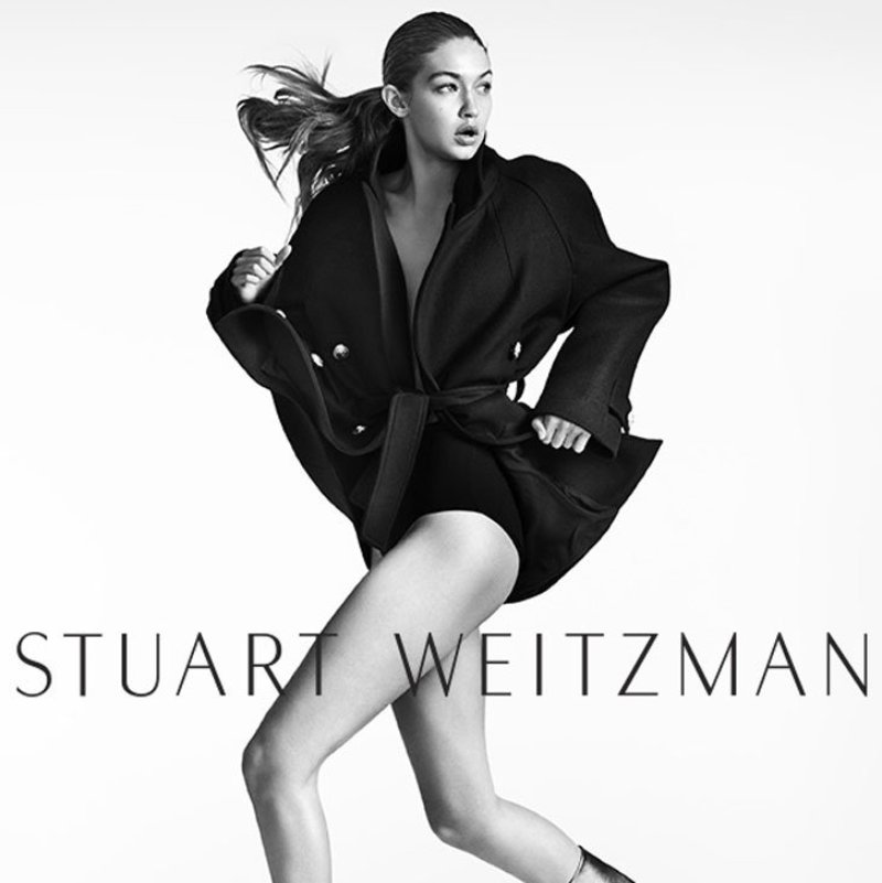 Gigi Hadid is the face of Stuart Weitzman\'s new campaign