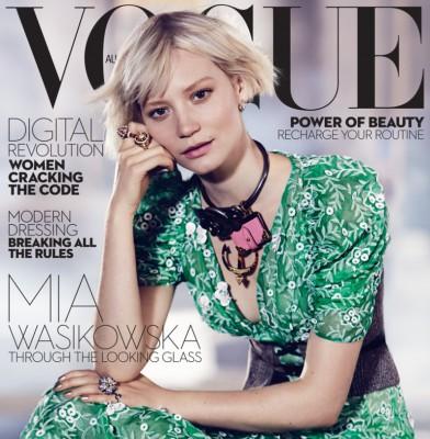 Mia Wasikowska Dazzles On Vogue Australia\'s July Cover