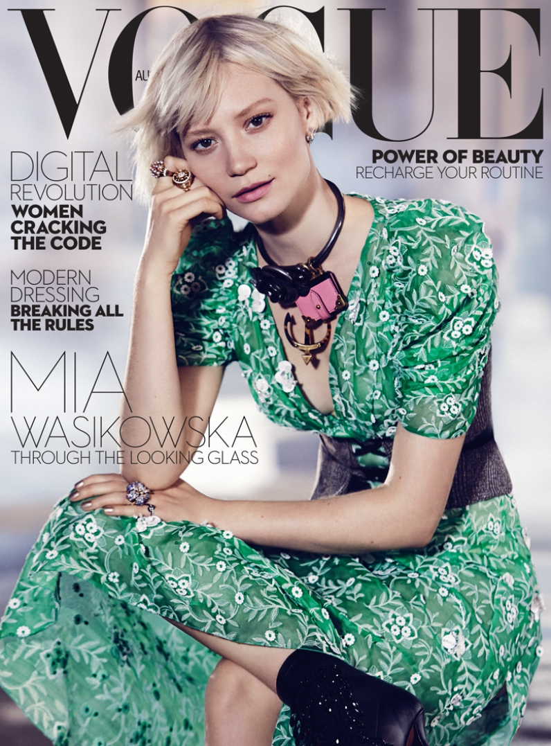 Mia Wasikowska Dazzles On Vogue Australia\'s July Cover