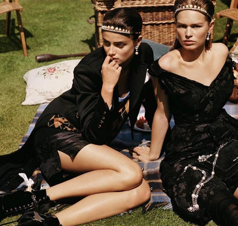 Taylor Hill & Anna Ewers front Miu Miu\'s new campaign