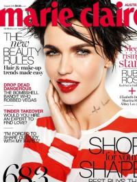 Ruby Rose smoulders on the cover of Marie Claire Australia\'s August issue
