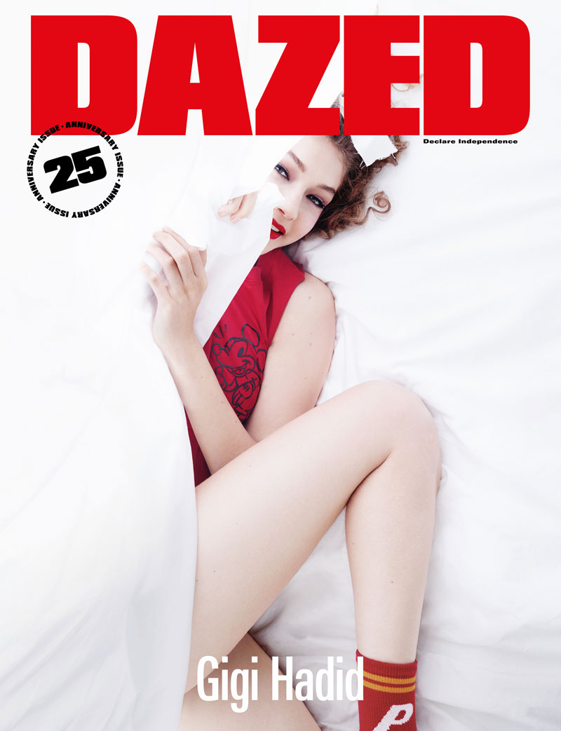 Gigi Hadid Covers \'Dazed\' Magazine\'s 25th Anniversary Issue