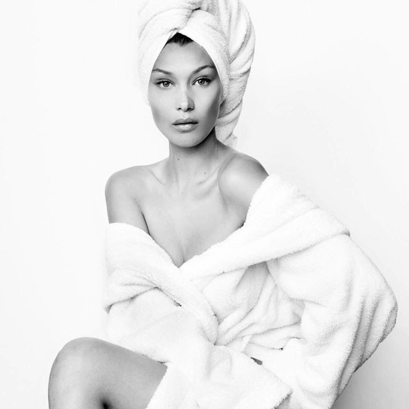 Bella Hadid Poses For Mario Testino\'s \'Towel Series\'