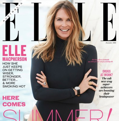 Elle Macpherson is Elle Australia\'s November cover star