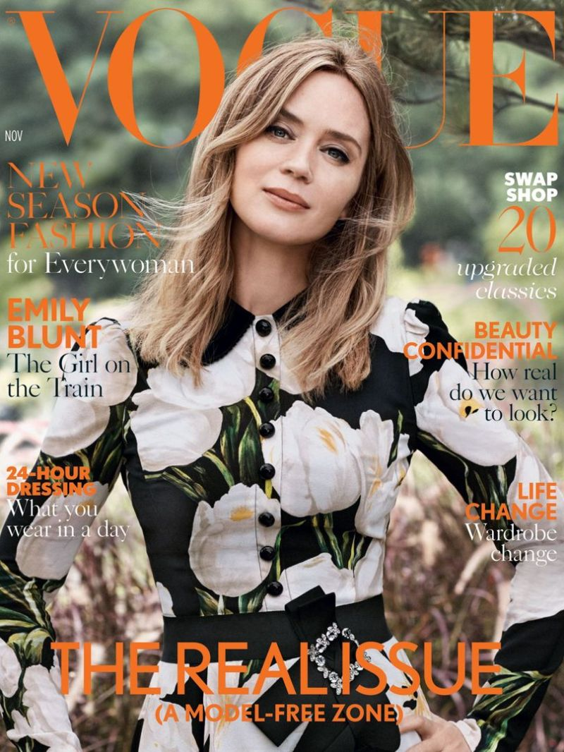 Emily Blunt is British Vogue\'s November Cover Girl