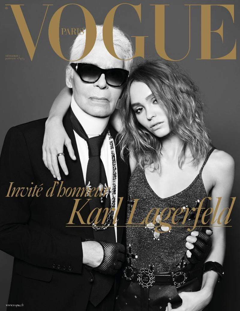 Karl Lagerfeld and Lily-Rose Depp Cover Vogue Paris