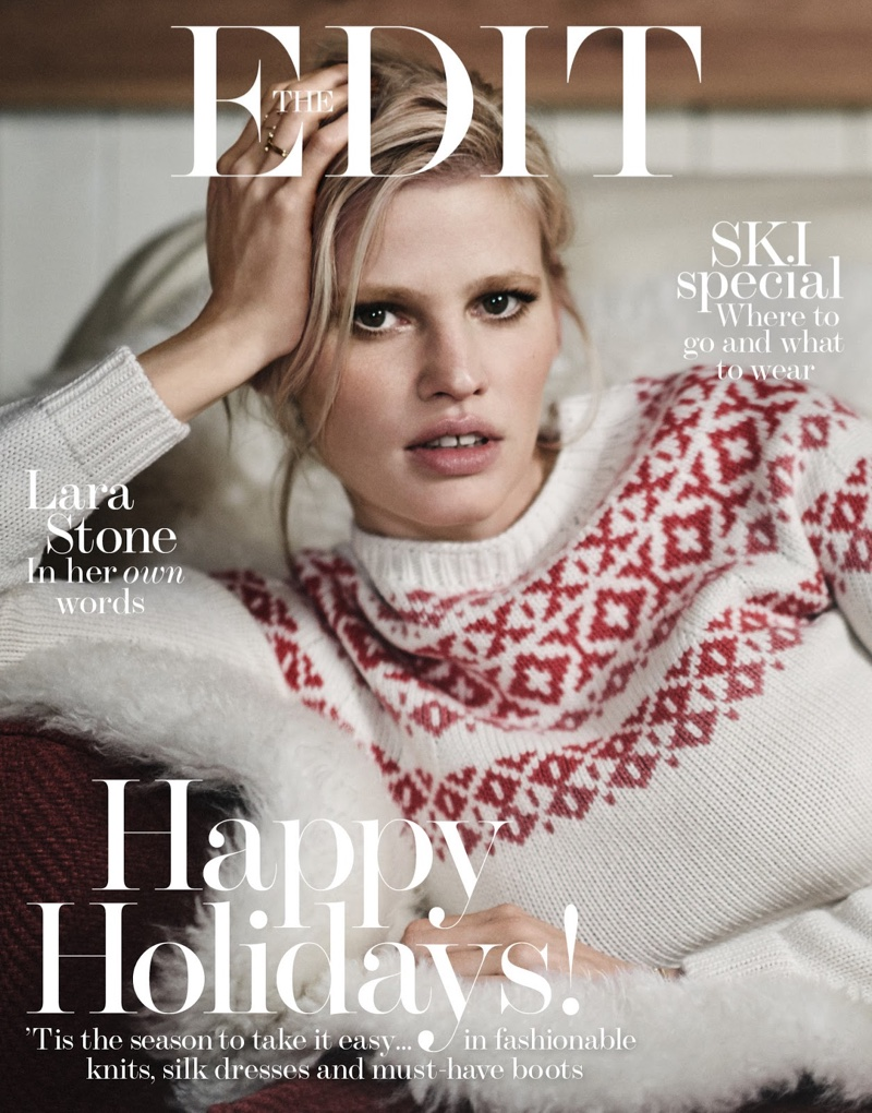 Lara Stone presents winter looks for Net-a-Porters \'The Edit\'
