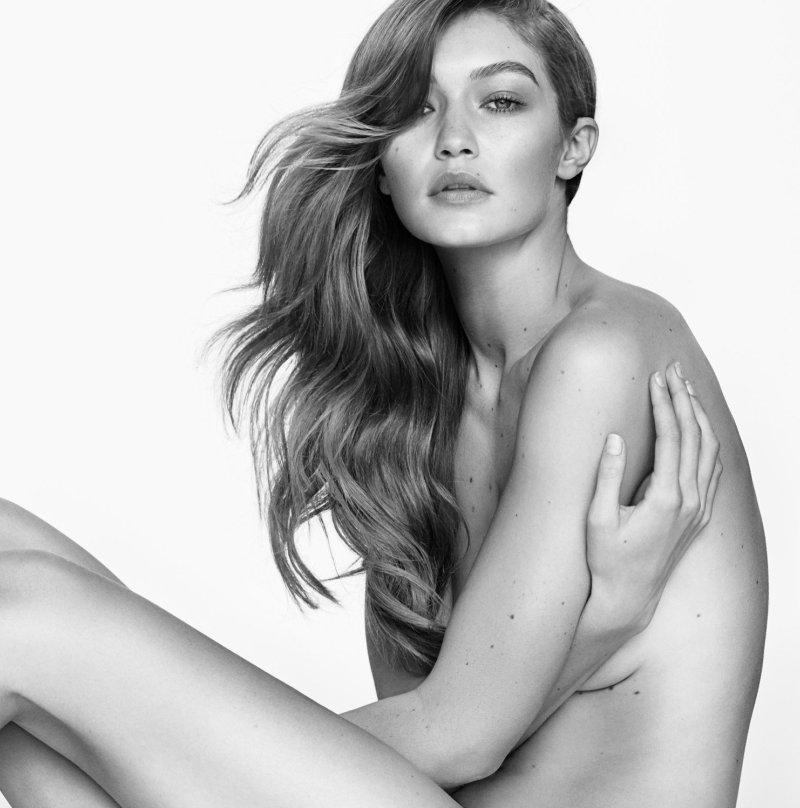 Gigi Hadid strips down for Stuart Weitzman Spring Campaign