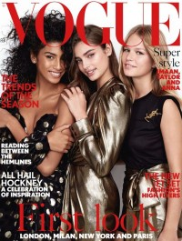 Taylor Hill, Anna Ewers and Imaan Hammam cover British Vogue