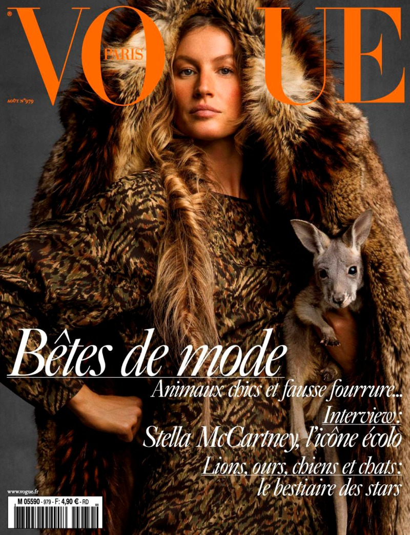 Gisele Bundchen covers Vogue Paris August 2017