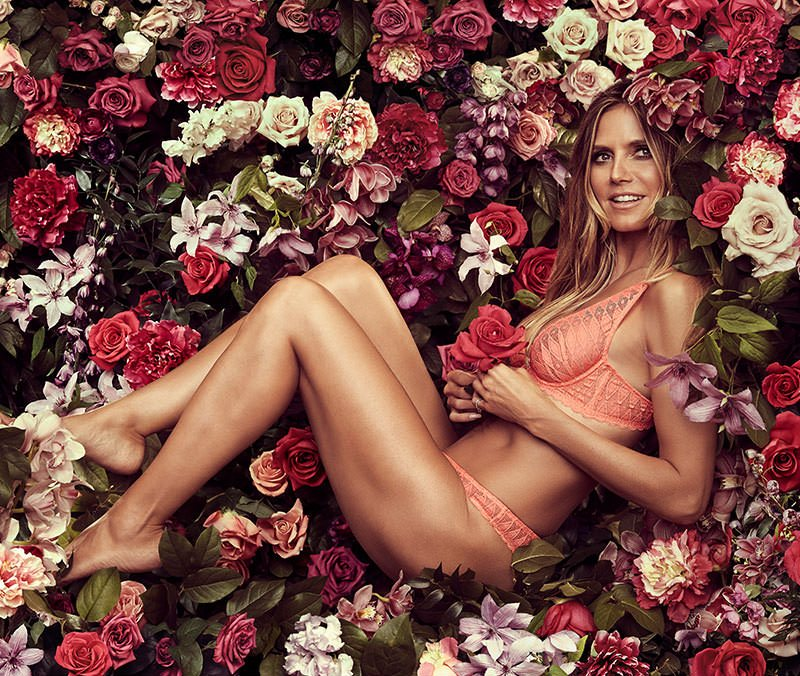 Heidi Klum unveils new Intimates collection