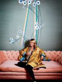 Kate Moss designs luxury prints for de Gournay