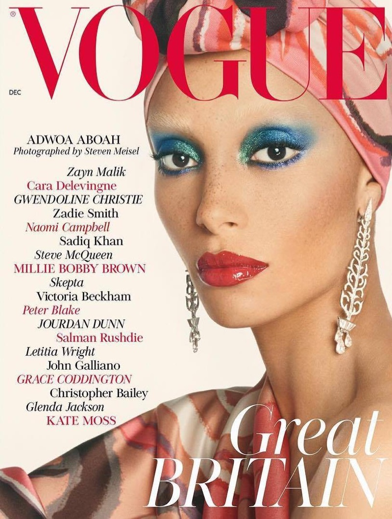 Adwoa Aboah graces Edward Enninful\'s first issue of British Vogue