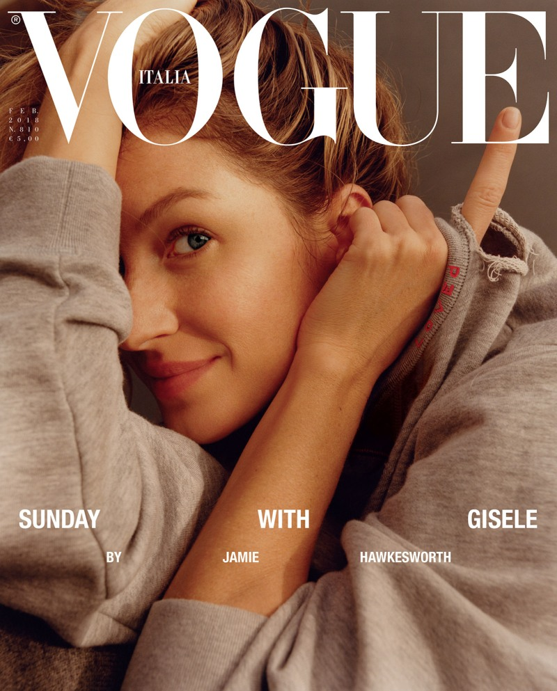 Gisele Bundchen goes make-up free for Vogue Italia\'s february issue