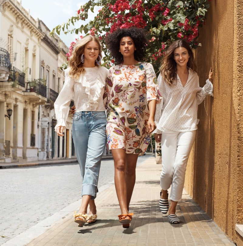 Andreea Diaconu, Anna Ewers and Imaan Hammam star in H&M\'s spring 2018 campaign film