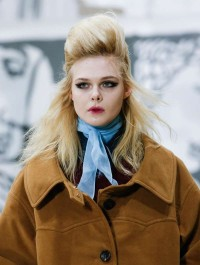 Elle Fanning makes runway debut at Miu Miu\'s Autumn/Winter show