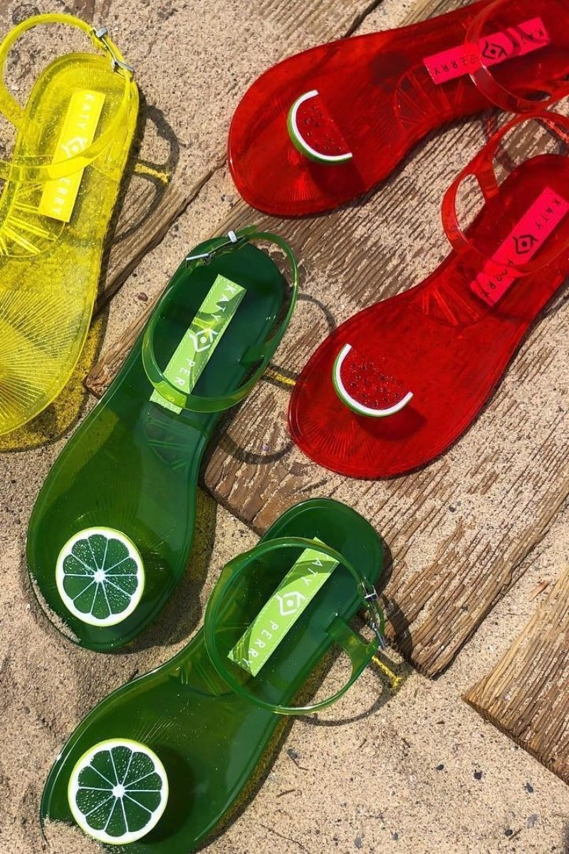 Katy Perry designs scented jelly sandals