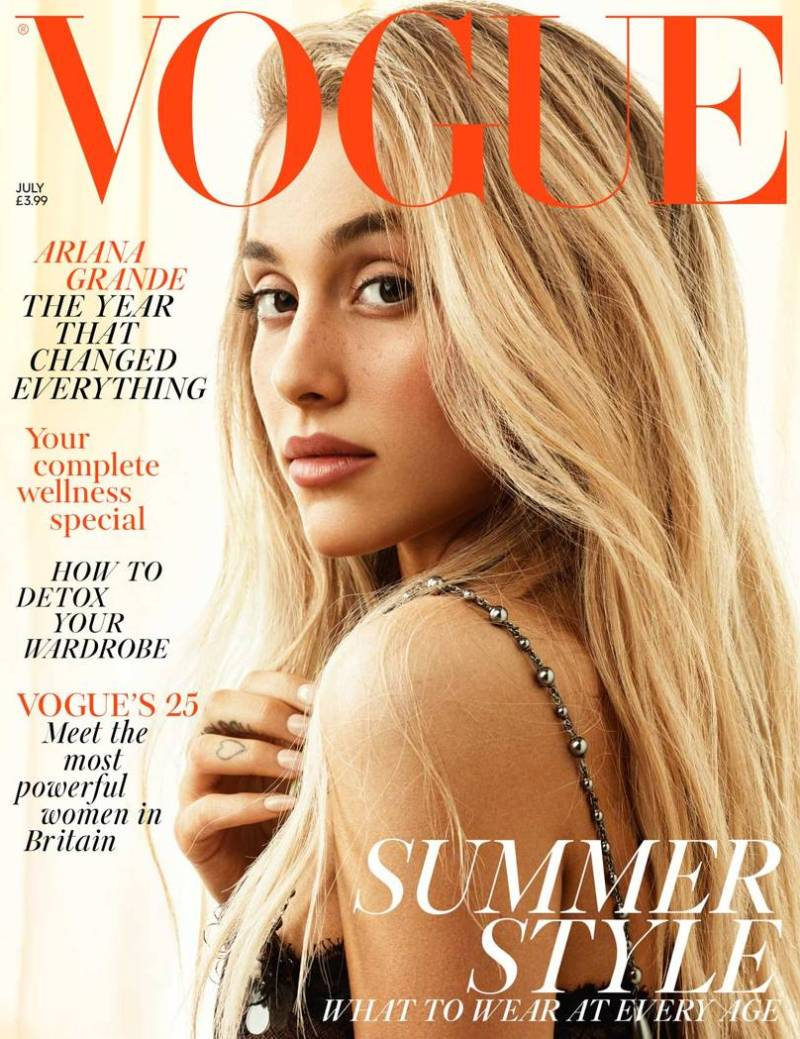 Ariana Grande is unrecognizable on July Vogue