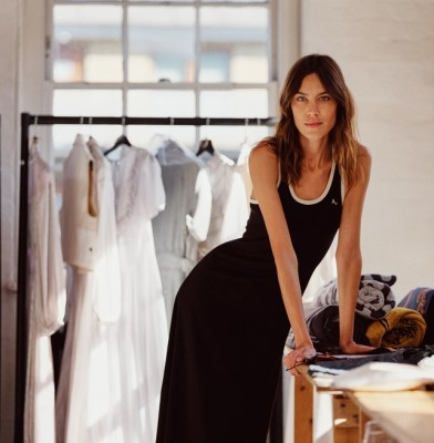 Alexa Chung makes her London Fashion Week debut