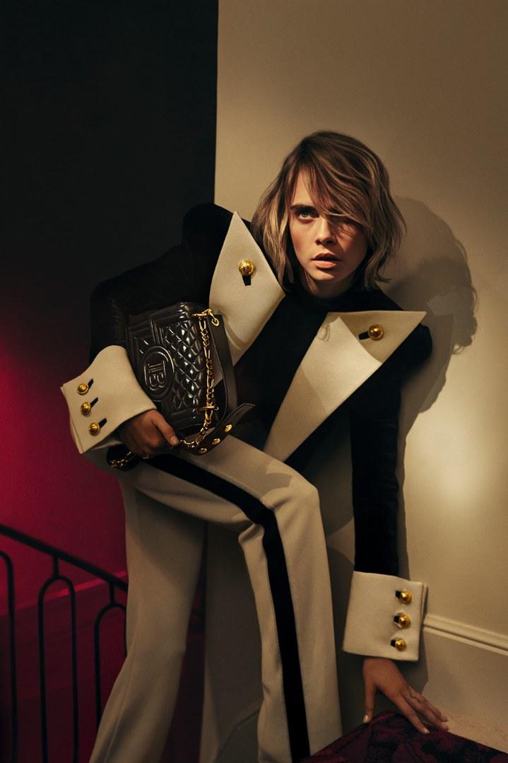 Cara Delevingne Collaborates with Balmain on new Handbag Collection