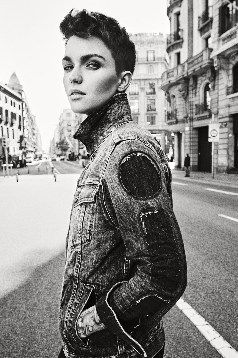 Ruby Rose Stands Out in the new G-star Raw S/S\'19 Campaign
