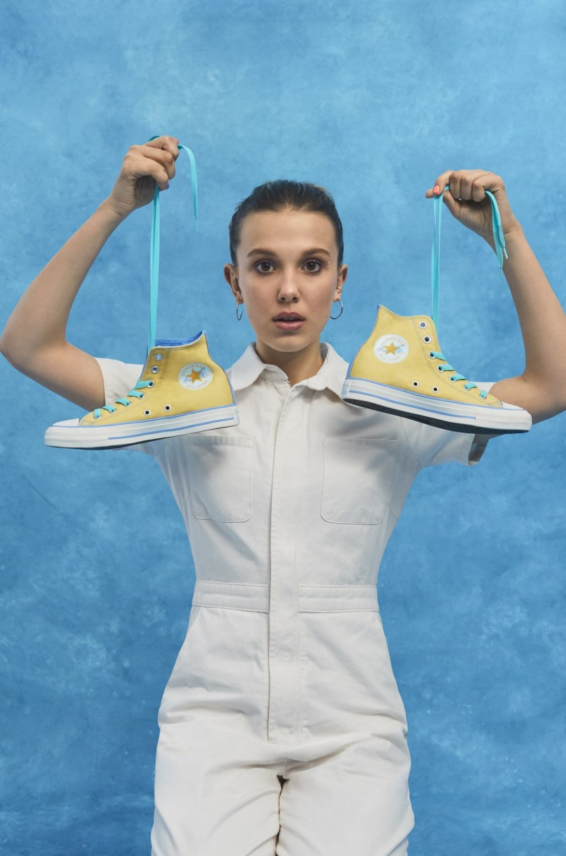 Millie Bobby Brown collaborates with Converse on new sneaker collection