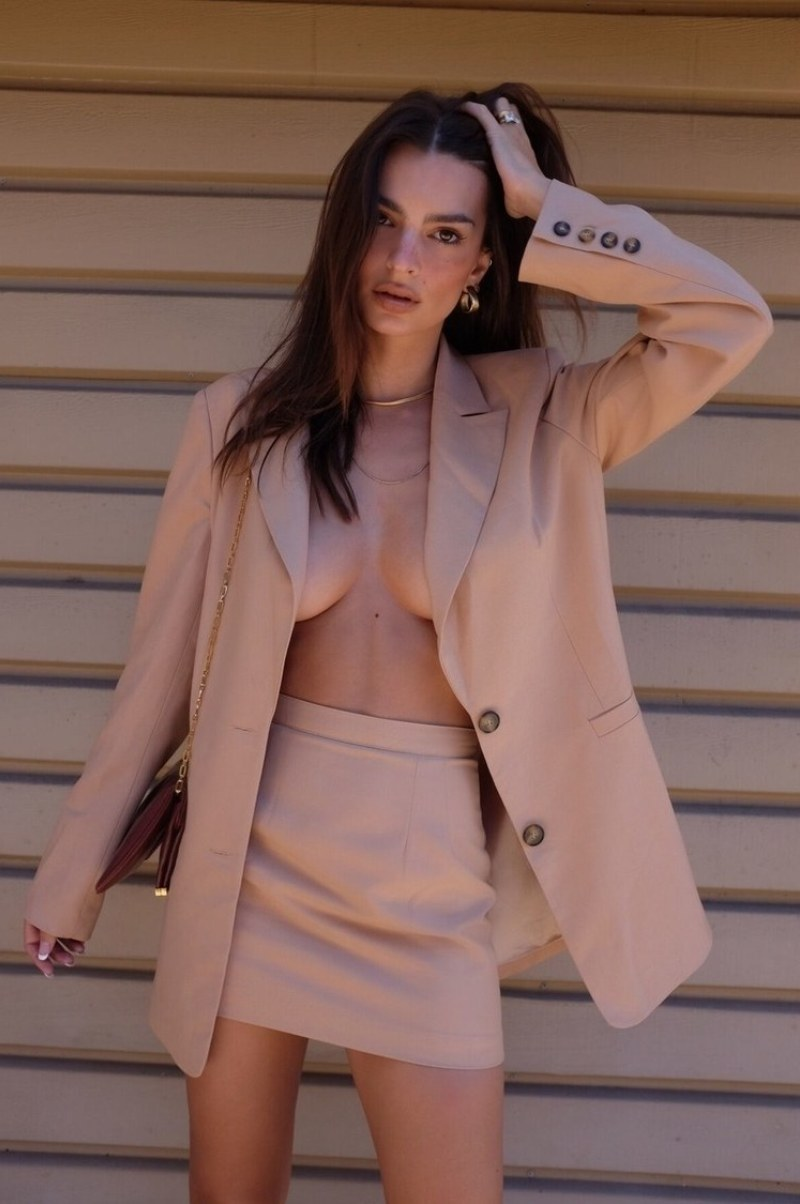 Emily Ratajkowski releases Micro Skirt Suits from her label Inamorata