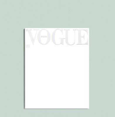 Vogue Italia Releases Blank White Cover for its April issue