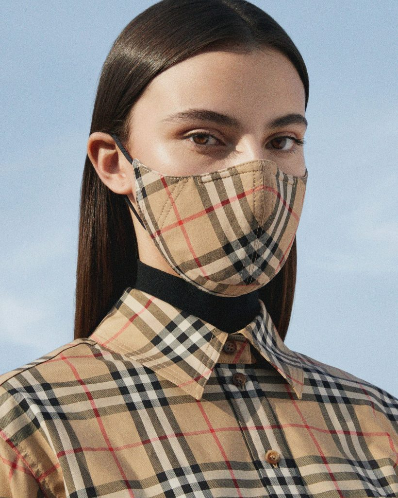 Burberry launches face masks with iconic check pattern