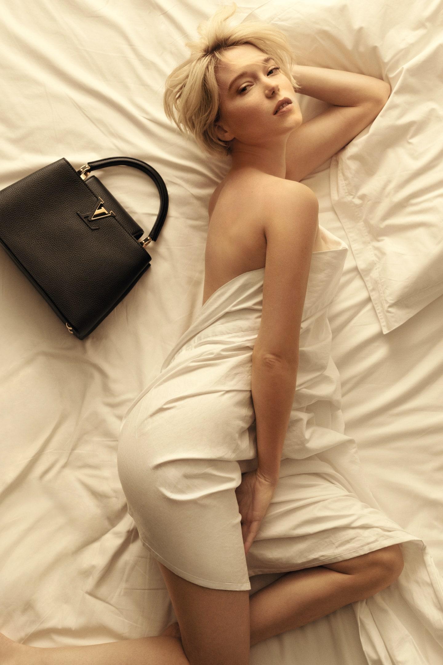 Lea Seydoux poses nude for Louis Vuitton\'s Capucines Campaign