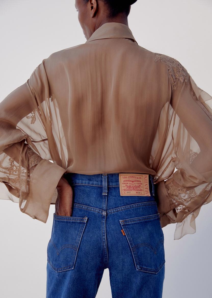 Valentino Collaborates With Levi\'s on reinterpretation of Flagship \'70s Jeans